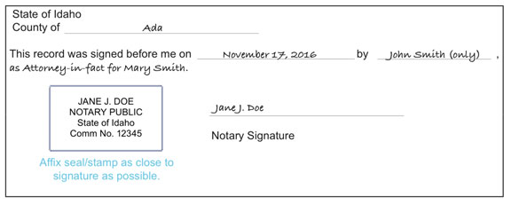 Notary form
